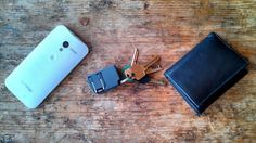 Chargerito is a tiny mobile device charger that can fit on your keychain and can be plugged into any outlet.