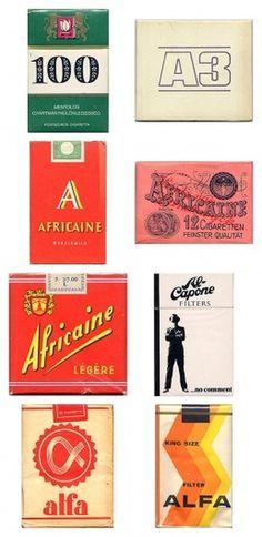 Awesome Vintage Cigarette Package Designs #packaging #vintage #cigarettes