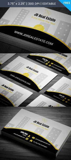 Free Real Estate Salesperson Business Card Template