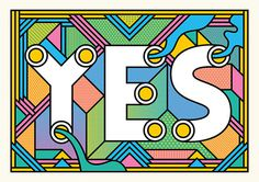 YES #moir #supermundane #yes #typography