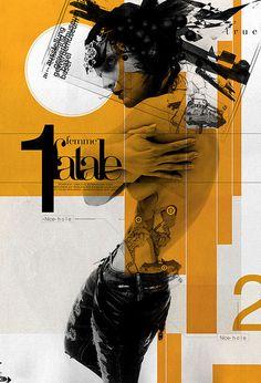 â–º DESPARCHE EN__:::__ JWTâ–º FEMME FATALE #inspiration #illustration #poster #collage #buentypo #bto