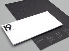 Generation Press » 19 Stationery – Zip Design – 19327 #minimal #black and white #stationery