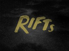 RIFTs #lettering