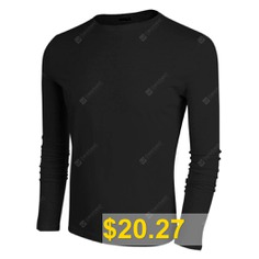 Fshion #Autumn #Mens #Casual #O-Neck #Long #Sleeve #Solid #T-Shirt #Tops