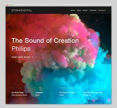 Stinkdigital #layout #website #web #web design