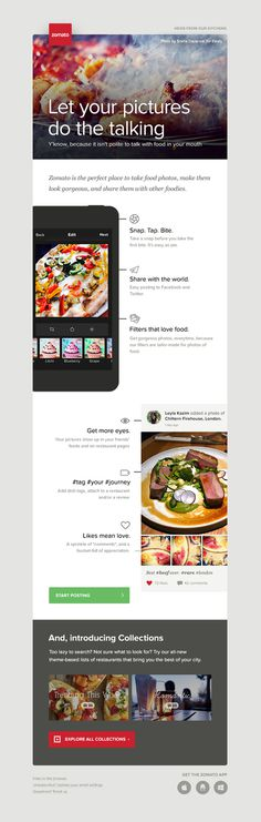 Mailer for Zomato by Juhi Chitravanshi #email #web #mail #newsletter #juhi chitravanshi #mailer #clean #design