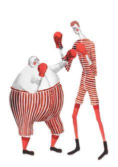 Rosanna Tasker, Circus Boxers #illustration