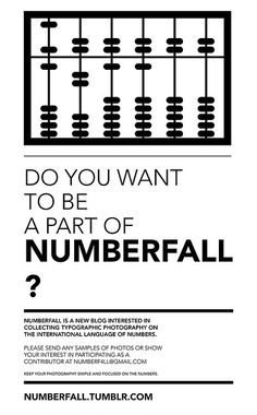 NUMBERFALL #numbers #websites #typography