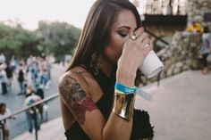 Rough night #girl #coffee #tattoo