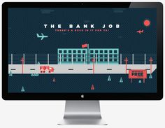 The Bank Job Illustration (Personal) on the Behance Network #illustration