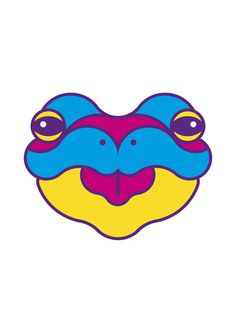 Urban tribe masks - Rana by Adria Molins #urban #geometry #tribe #fluorescent #illustrator #design #masks #barcelona #street #art #face #animal #frog