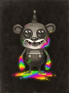 Death of Neon by ~MikePMitchell on deviantART #bear #illustration #color