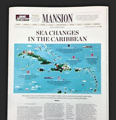 """Sea Changes in the Caribbean\"" illustration"