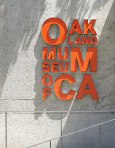 Oakland Museum of California #signage #navigation