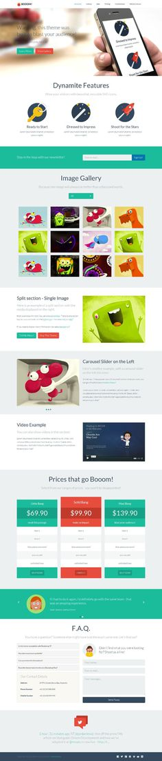 flat, clean, green, red, web design, layout, concept