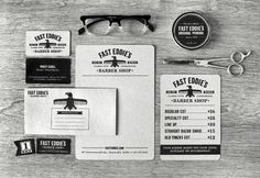 Fast Eddie's - Commoner | Design.org #barber #eagle #identity #branding