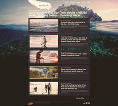 Nike 6.0 // Surfca.li on the Behance Network #layout #webdesign