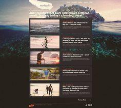 Nike 6.0 // Surfca.li on the Behance Network #layout #webdesign