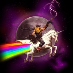 Sir Mitchell | Awesome 5000 #47 #viking #ak #unicorn #space #lighting #rainbow #awesome #moon