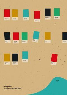 ----------- anna kovecses ----------- #minimalistic #print #colors #sea #pantone #poster #art #beach