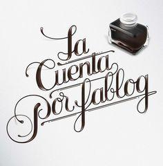 """Quote """"La cuenta por fablog"""" #lettering #typography"""