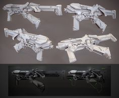 SMG clay render #rifle #smg #scifi