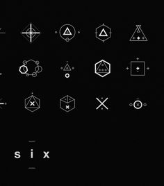 SIX // Symbols & Shapes on Behance #swiss #design #shapes #geometric #clean #symbols #mono #number #poster