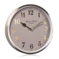 London Clock Company 'Florrie' Wall Clock, Champagne Gold, 25cm x 4.6cm