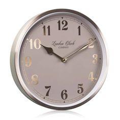 London Clock Company 'Florrie' Wall Clock, Champagne Gold, 25cm x 4.6cm