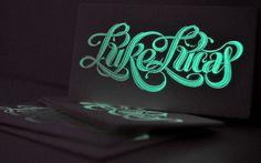 Luke Lucas #calligraphy #print #type