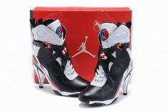 Nike Air Jordan VIII 8 Heels Black/White/Red #shoes