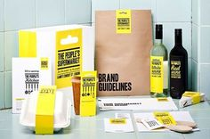 The People's Supermarket - TheDieline.com - Package Design Blog #identity