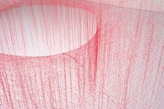 The Silk Vortices of Akiko Ikeuchi | Colossal #art #sculpture #installation #silk #string #akiko ikeuchi