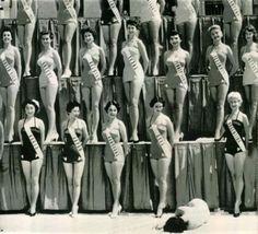 1954   Miss Universe Beauty Pageant   Miss New Zealand faints under the hot sun of Long Beach, California.   Imgur