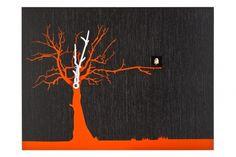 Progetti CuCuRuKu чёрные #clock #tree #watch