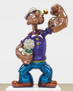Popeye sculpture by acclaimed American artist #JeffKoons