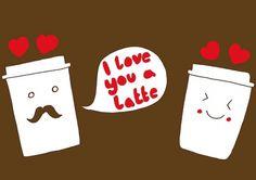 Love You A Latte :) | Flickr - Photo Sharing! #danielle #complin #illustration #latte #coffee #love