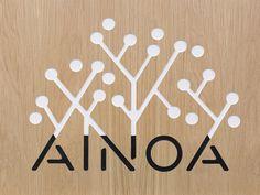 Ainoa on Behance #logo