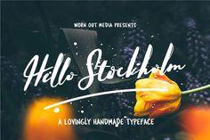 Hello Stockholm : Lovingly Handmade Font
