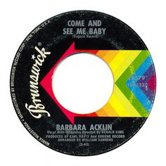 Center Of Attention | The Art Of Record Center Labels | Barbara Acklin – Come And See Me baby