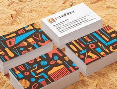 Visual identity and business cards for Hemslöjden, The Swedish Handicraft Societies' Association designed by Snask