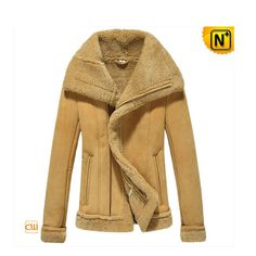 Women Shearling Fur Trimmed Leather Jacket CW640106