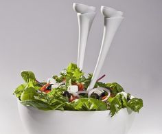 Jumpin Jack Salad Servers #tech #flow #gadget #gift #ideas #cool