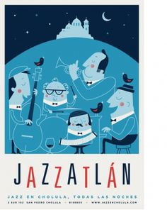 design work life » cataloging inspiration daily #jazz #illustration #moon