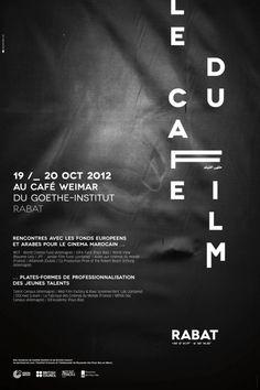A'ZERO STUDIO / LE CAFE DU FILM #poster #typographie #affiche #morocco