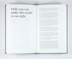 Atelier Carvalho Bernau: Jesper Just: Film Works #longcopy #book #typo