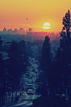 http://deadfix.com/wp content/uploads/2012/11/Sunset.jpg #cityscape #sunset #streets