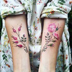 #watercolor #tattoo #flower