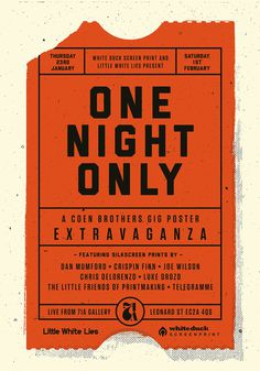 Poster for Coen brothers tribute show