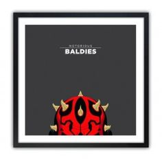 Notorious Baldie DARTH MAUL by Mr Peruca #print